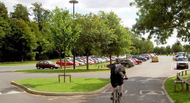 A photo showing Cusworth Hall car park