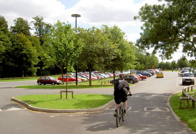 A photo showing Cusworth Hall car park