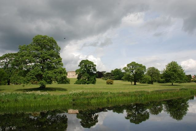A stunning photo of Cusworth Park in Doncaster, featuring one of the gorgeous lakes at Cusworth Hall
