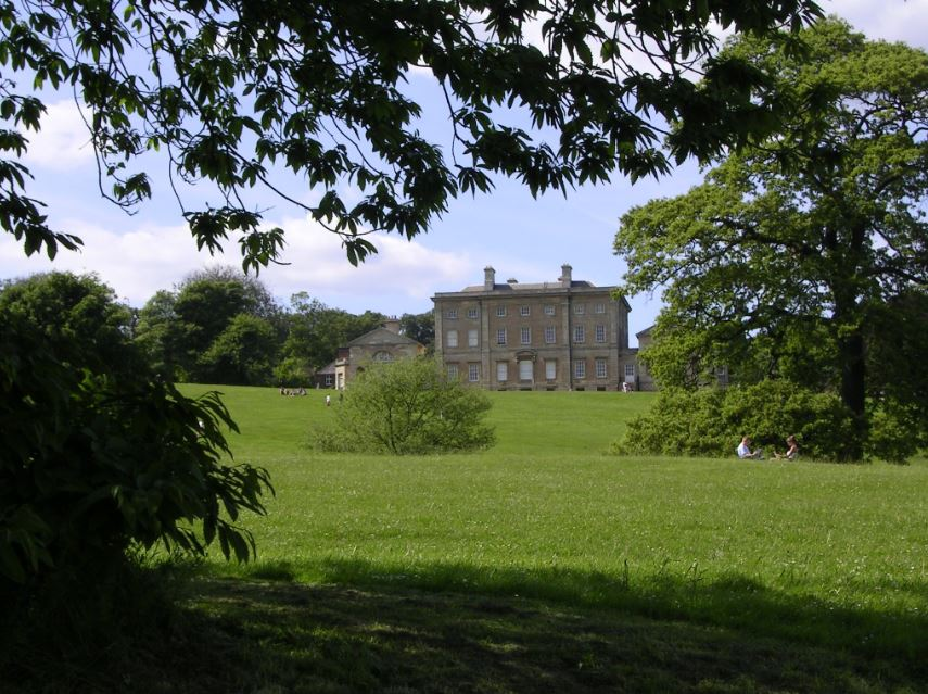 A beautiful landscape photo of Cusworth Hall and Cusworth Park with scenery